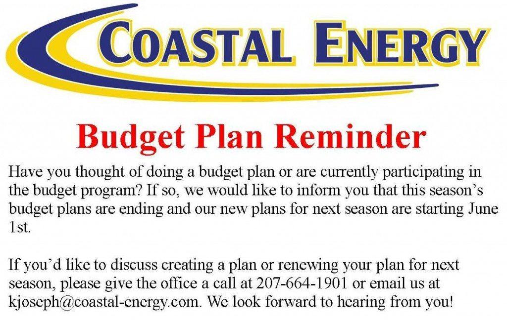 Budget Reminder Flyer